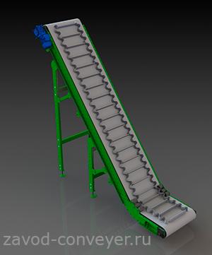 L-образный ленточный конвейер