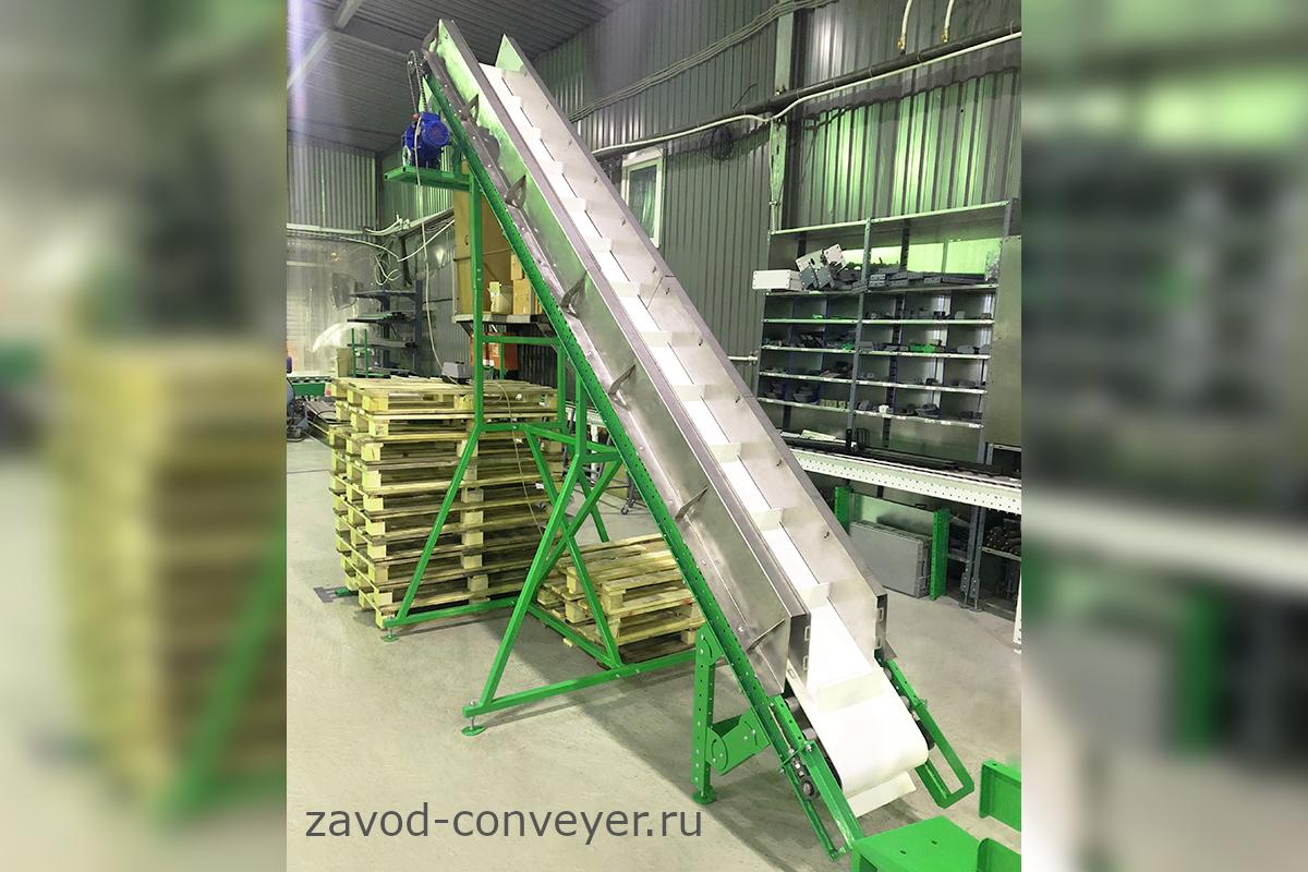 Наклонный ленточный конвейер для сельского хозяйства
