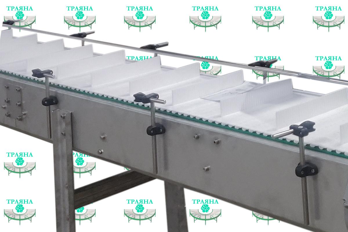 Транспортёр на модульной ленте из нержавеющей стали для кондитерского производства в России