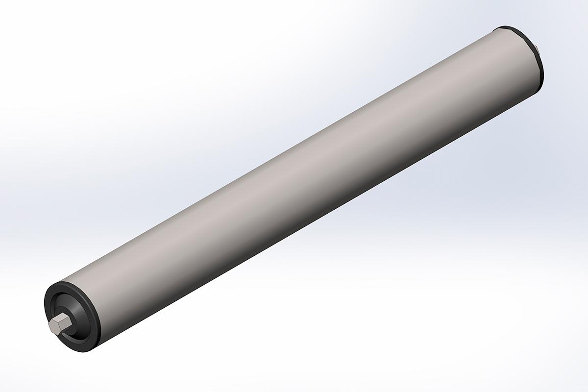 Ролик конвейерный неприводной стальной D48/L200