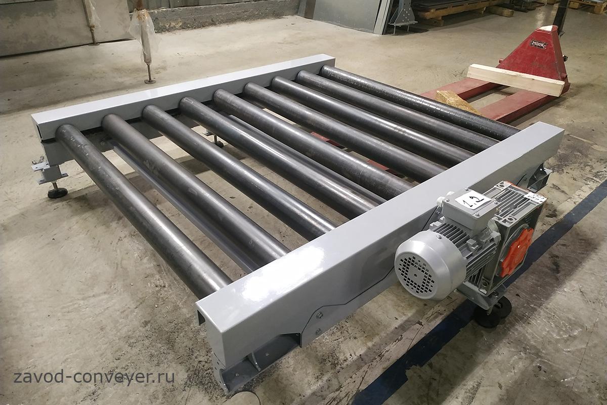 Паллетный конвейер для перемещения поддонов и паллет на складе