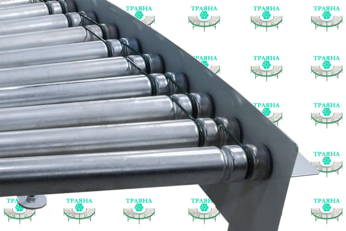 Ролик конвейерный приводной оцинкованный D48/L200
