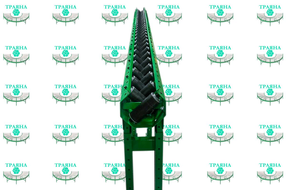 Рольганг для подачи стального прутка на металлообрабатывающий станок