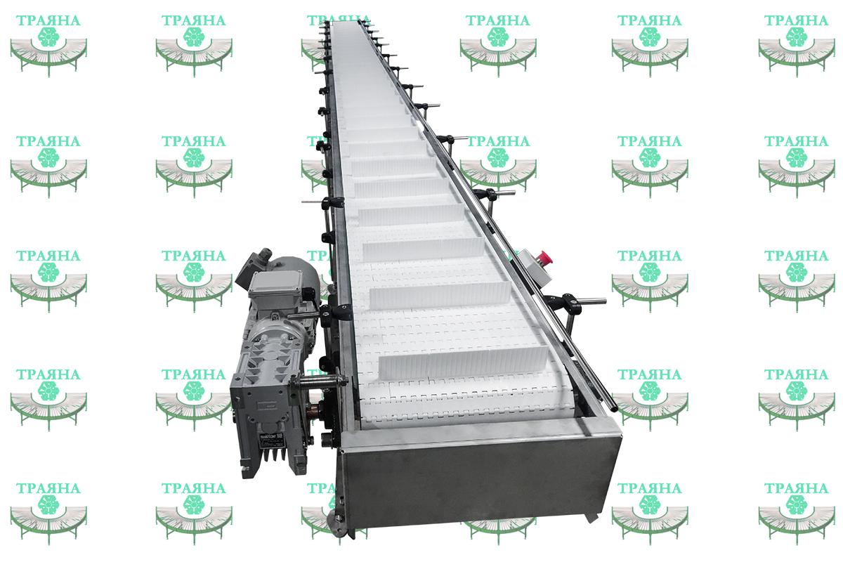 Горизонтальный модульный конвейер ТРАЯНА-ГМК 12500
