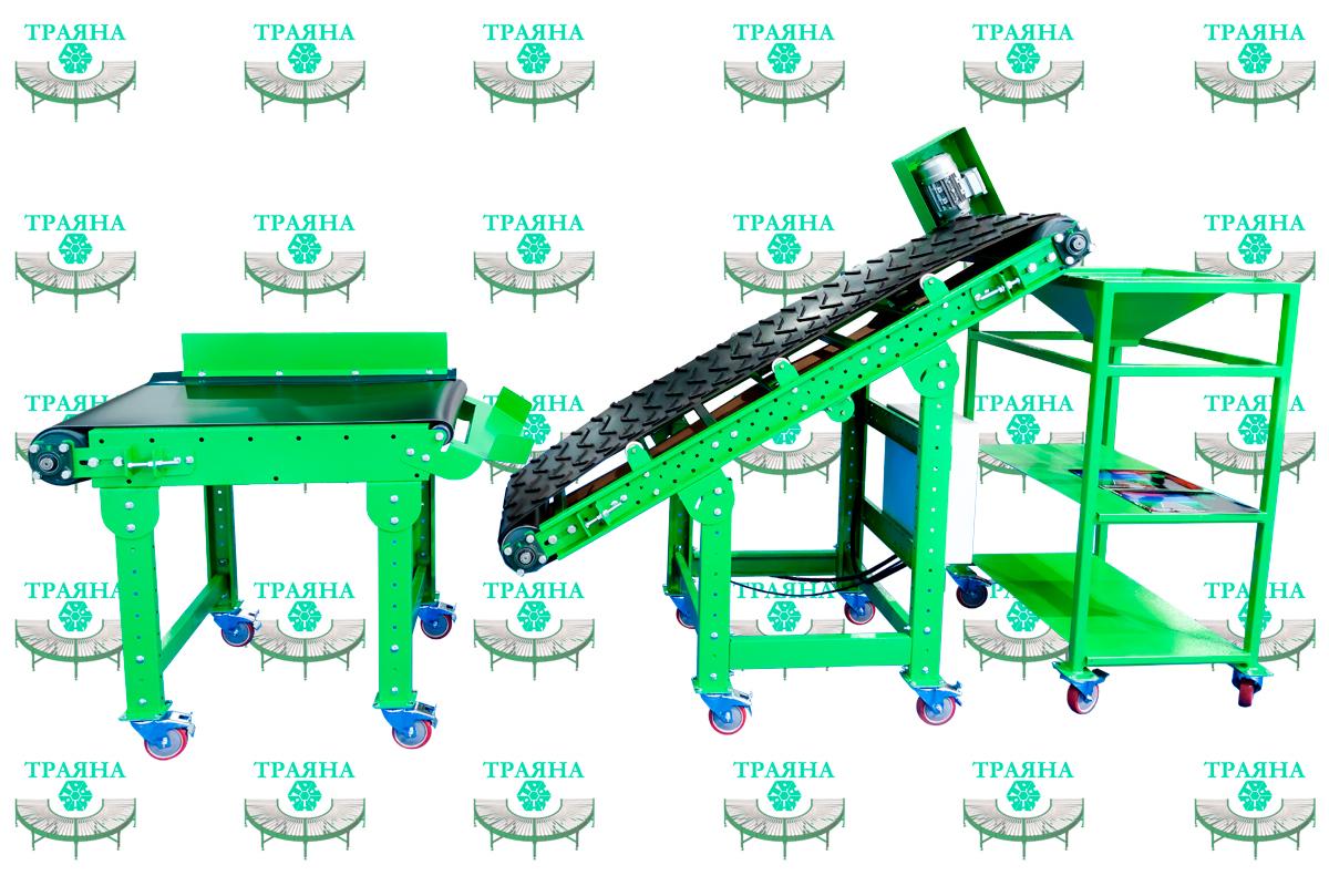 Мобильный участок конвейерной линии для сортировки и комплектации товара